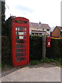 TG1106 : Telephone Box & Mill House Postbox by Adrian Cable