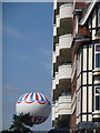 SZ0990 : Bournemouth: Premier Inn balconies and the balloon by Chris Downer