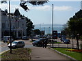 SZ0990 : Bournemouth: bay view down Bath Hill by Chris Downer