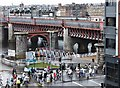 NS5864 : The Hampden KiltWalk 2013 crosses Jamaica Street by Barbara Carr