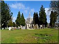 TL1714 : St Helen's church Wheathampstead by Bikeboy