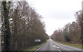 SU2912 : Entrance to Cricket Ground from A337 by John Firth