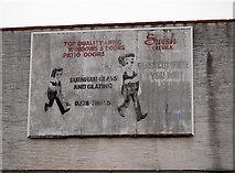 ST3049 : Glaziers' sign by Neil Owen
