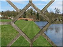 TL8425 : Through the diamond window, walled garden, Marks Hall Estate by Roger Jones