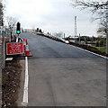 ST3084 : Temporary traffic lights, Pheasants Bridge, Newport by Jaggery