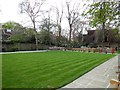 TQ2682 : Small garden by Lords Cricket ground by Paul Gillett