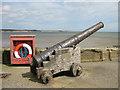 TA1866 : Cannon on North Pier by Pauline E