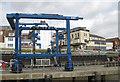 TA1866 : Crane in the harbour by Pauline E