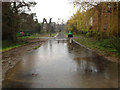 SP2965 : Big puddle, St Nicholas Park by Robin Stott