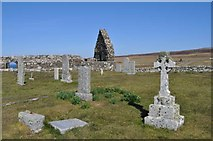 NG2261 : Ruined Church and Cemetery at Trumpan by Robert Struthers