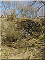 NS4385 : Exposed rock at Duncryne by Lairich Rig