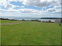 SS5288 : View over Oxwich Bay from Nicholaston Camping & Caravan Farm by Jeremy Bolwell