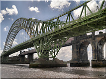 SJ5183 : Silver Jubilee Bridge, Widnes by David Dixon
