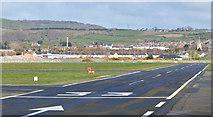 J4972 : Runway 33, Newtownards airport by Albert Bridge