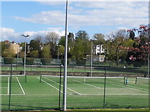 TQ2472 : Tennis courts on Wimbledon Park by David Howard
