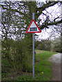 TM4072 : Roadsign on the entrance to South Manor Farm by Adrian Cable