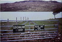NM5736 : Gate by Loch Bà by Richard Webb