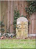 TM3876 : Milestone on the A144 Bramfield Road by Adrian Cable