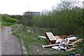 SK4629 : Fly-tip beside Netherfield Lane by David Lally