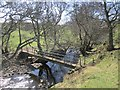 NU0022 : Footbridge, Lilburn Burn by Richard Webb