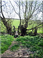 SP7139 : Stream crossing for the path to Leckhampstead by Philip Jeffrey