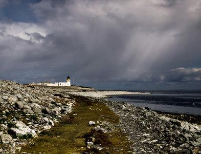 NX0299 : Ailsa Craig lighthouse by David Baird