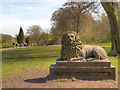 SD5908 : The Stone Lion, Haigh Hall by David Dixon