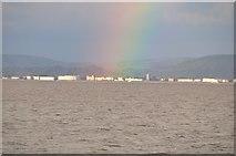 ST3049 : West Somerset : Rainbow over Burnham-on-Sea by Lewis Clarke