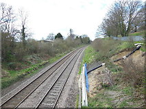 SO8104 : The railway line at Ryeford, west bound by Ian S
