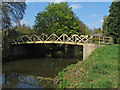 TQ0152 : Footbridge, River Wey Navigation by Alan Hunt