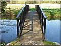 TQ0152 : Canal footbridge, Bower's Lock by Alan Hunt