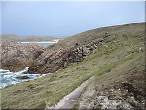 SV8715 : The coast path on Bryher by David Purchase