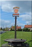 TL8530 : Colne Engaine village sign by Peter Pearson