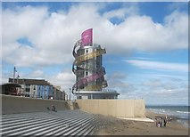 NZ6025 : The now completed Redcar Beacon seen from the east by peter robinson