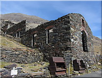 SH6254 : Britannia copper mill beside the Miners' Track by Gareth James