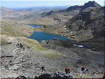 SH6154 : Walkers on the Pyg/Miners'  Track to Snowdon by Gareth James