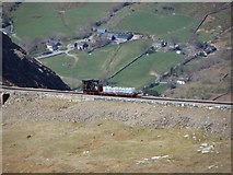 SH6055 : Snowdon Mountain Railway above Clogwyn by Gareth James