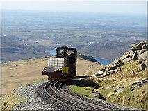 SH6056 : Works train descending Snowdon by Gareth James