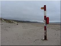 SH5631 : Harlech beach by Gareth James
