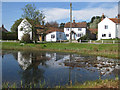 TG0934 : Cottages beside the village green by Pauline E