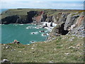 SR9294 : Rocky coastline of South Pembrokeshire by Jeremy Bolwell
