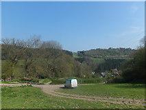 SJ2637 : Looking back towards Bronygarth by John Haynes