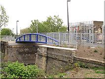 TQ3478 : Bermondsey Connect2 bridge - east side by Stephen Craven