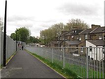 TQ3478 : Bermondsey Connect2 bridge - southern approach by Stephen Craven