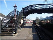 TQ4023 : Under the footbridge at Sheffield Park station by Marathon