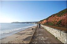 SX9777 : South West Coast Path, South Devon Railway Sea Wall by N Chadwick