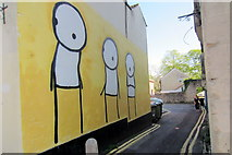 ST5038 : Graffiti in an alley down to Silver Street by Philip Jeffrey