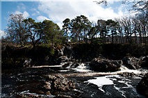 NH4891 : Cascade on River Carron by Trevor Littlewood