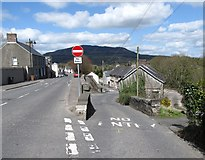 J0115 : Exit from the one-way road linking Carrickstricken Road and Forkhill's Main Street by Eric Jones
