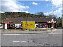J0115 : A new block of stores at the southern end of Forkhill's Main Street by Eric Jones
